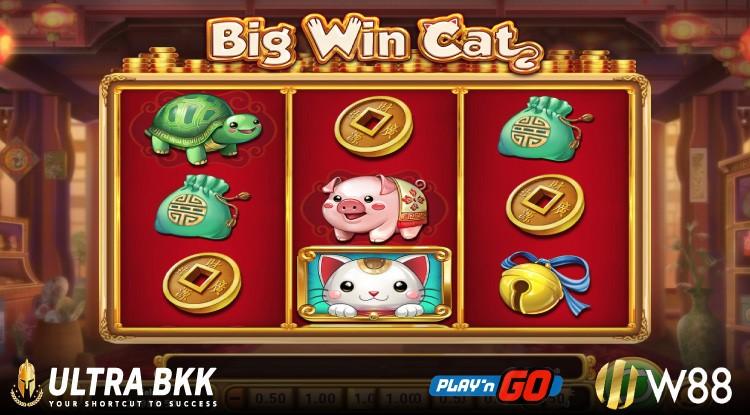 สล็อต PNG ชื่อเกม Big Win Cat (แมวนำโชค)